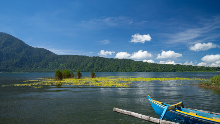 indonésie lac batur peche