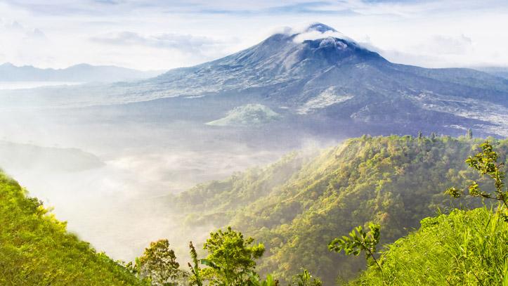 Indonésie mont Batur volcan