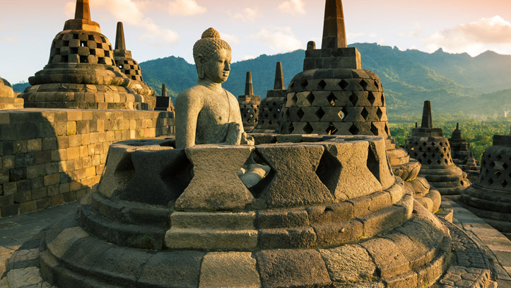 Java Borobudur temple Indonesie Liste