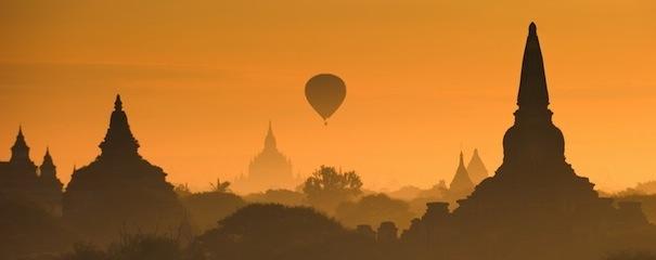 Coucher de soleil Bagan Birmanie