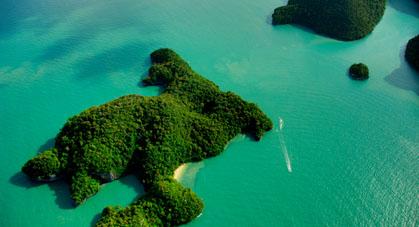 Île paradisiaque de Lang Kawi