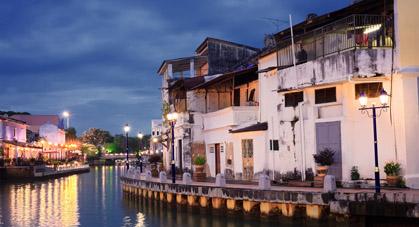 Une balade en bateau sur la rivière de Malacca