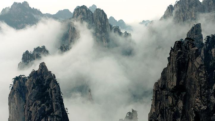 mont huangshan brouillard