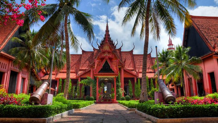Le Musée National du Cambodge, qui recèle de trésors, à Phnom Penh