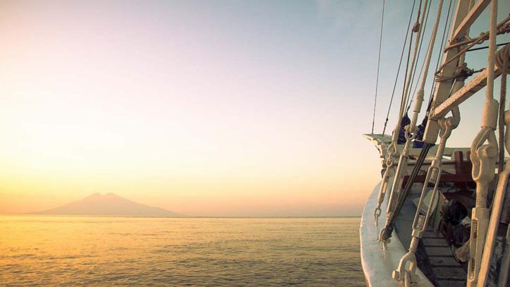 Ombak croisiere coucher soleil