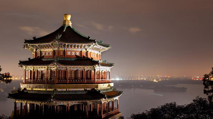 palais d'ete vue de nuit