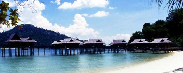 Chambres sur piloti du Pangkor Laut Resort