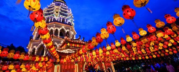 Penang: le temple Kek Lok Si