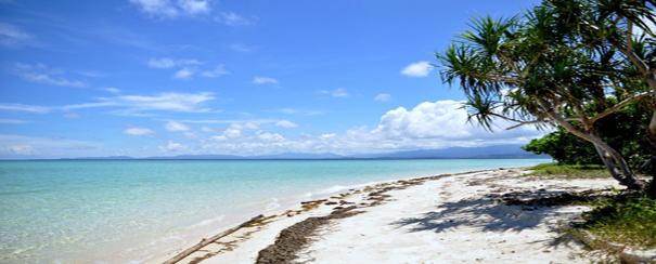 Plage de sable blanc aux Philippines