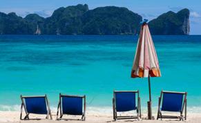 Plage paradisiaque en Thailande