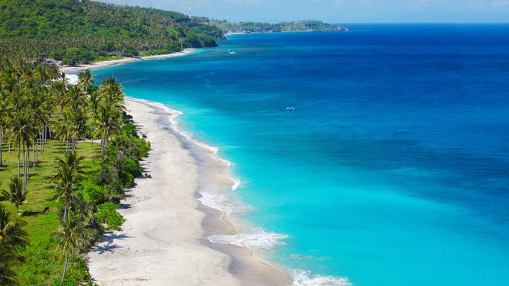 Plage sable blanc Lombok