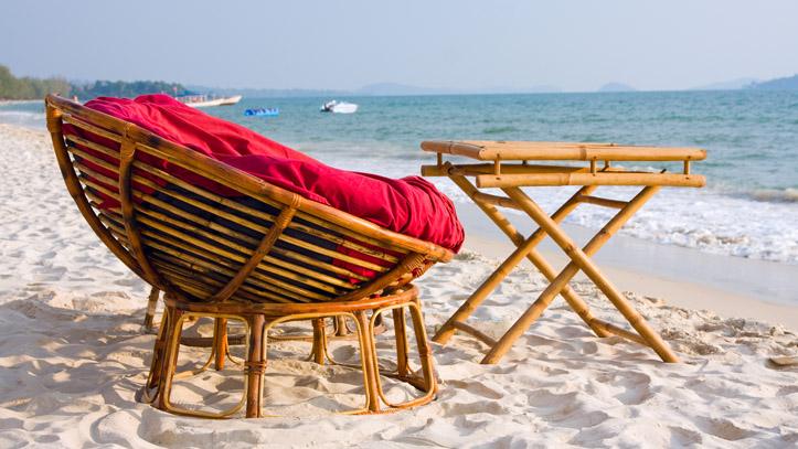 Une des magnifiques plages de Sihanoukvilles, reconnues dans tout le pays !