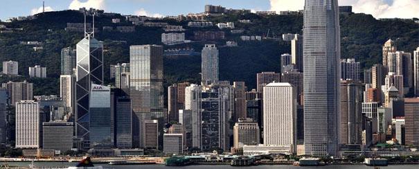 Grattes ciels à Hong Kong
