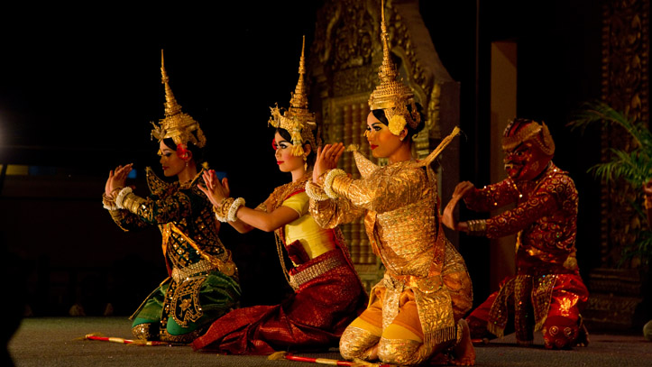 Les spectacles de danse traditionnelle Khmer, un moment d'inoubliable !