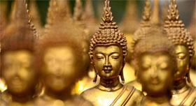 La Thailande et son Bouddha doré souriant