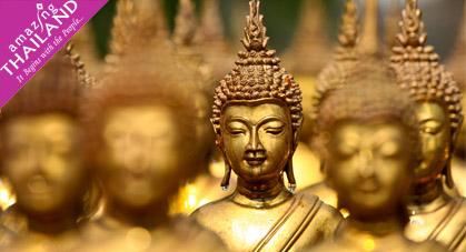Statues Bouddha Dorés, Thailande