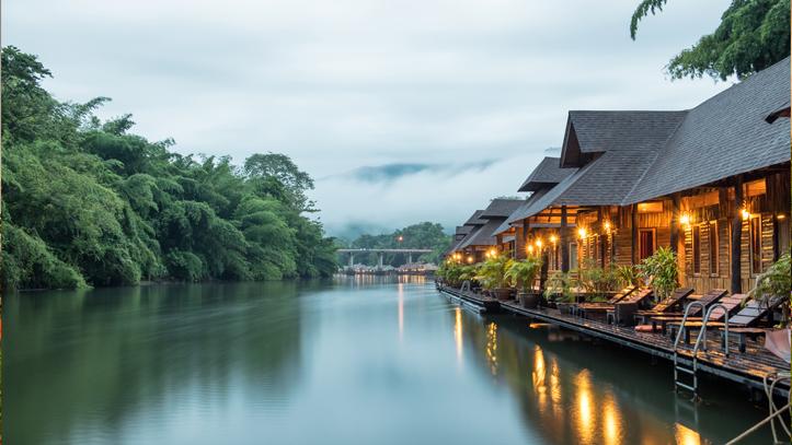 Thailande kanchanaburi sai yok maison en bois