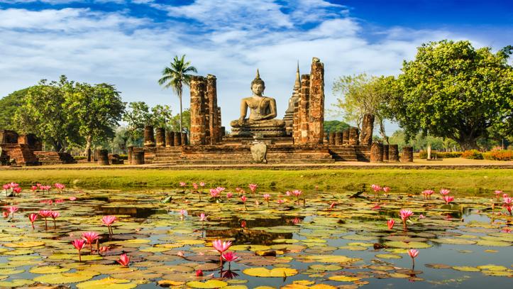 Thailande statue bouddhas