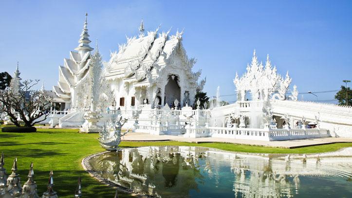 thailande temple blanc