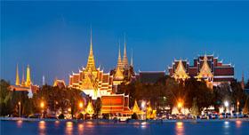 Grand Palace de nuit, à Bangkok