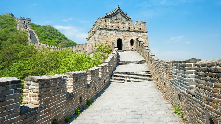 Traversée de la grande muraille de Chine