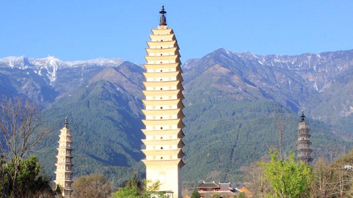 trois stupa dali chine