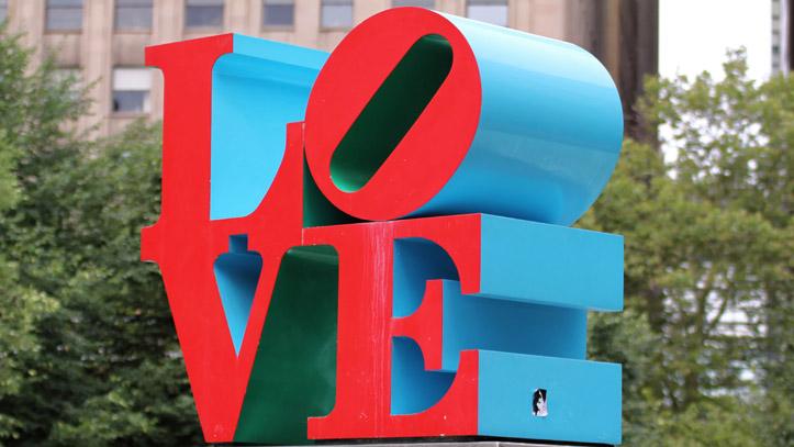 Philadelphie Love Parc Sculpture