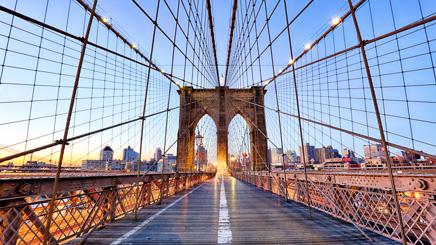 Brooklyn Pont coucher de soleil