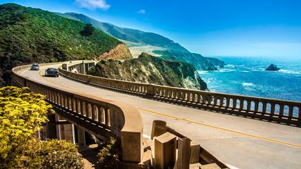 Californie route pont plage