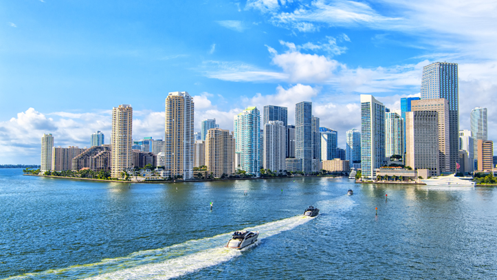 USA Floride Miami Bay Skyline