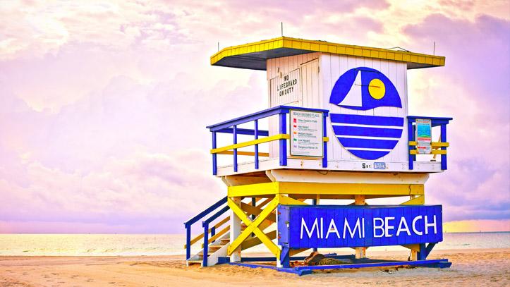 Usa Floride Miami Plage Cabane