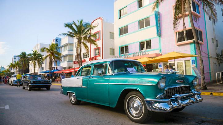 USA Floride Miami voiture architecture
