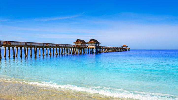 Floride Naples pont plage