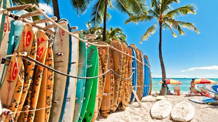 Hawaii Honolulu Plage surf
