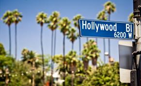 USA Los Angeles Hollywood panneau