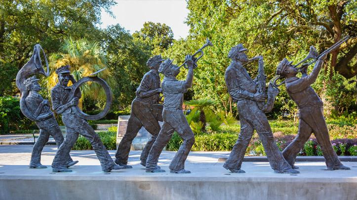 Louisiane Statue musique instrument