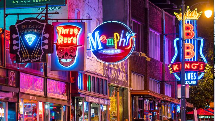 Memphis Musique lumière