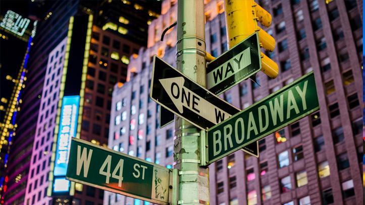 USA Newyork nuit panneaux