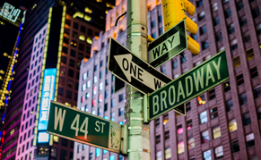 USA New York tableau nuit