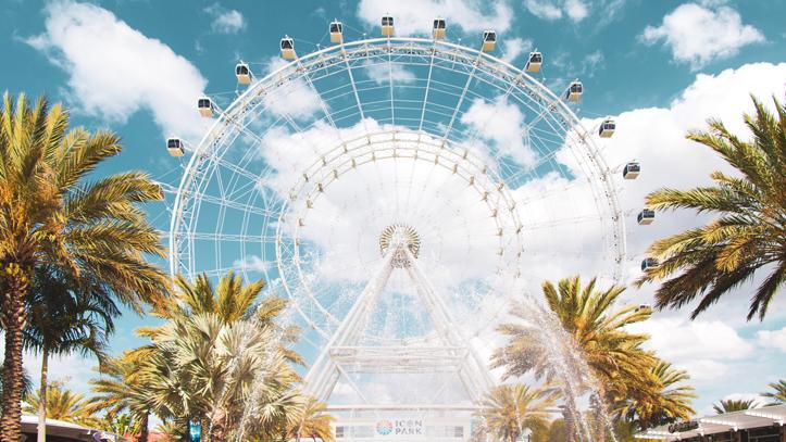 USA Orlando attraction roue palmier
