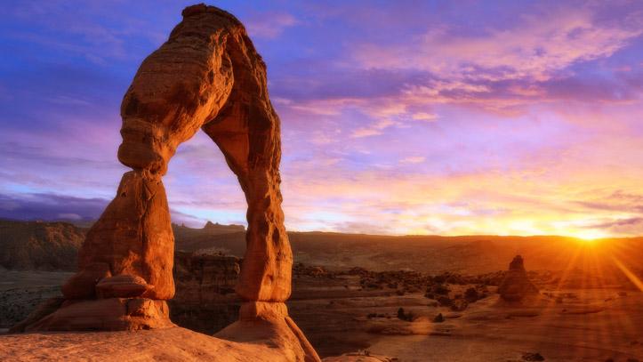 Ouest Moab arches parc soleil