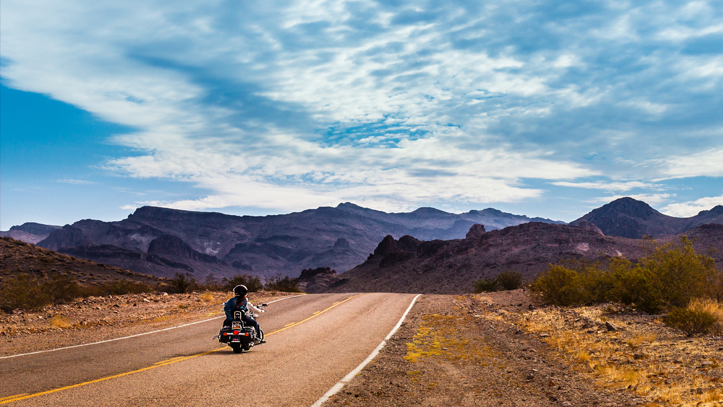 USA Ouest route moto paysage