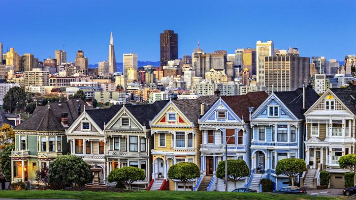 USA SAN FRANCISCO MAISONS VICTORIENNES