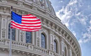 Washington drapeau américain