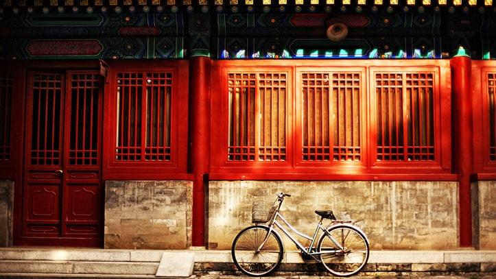 velo mur rouge chine