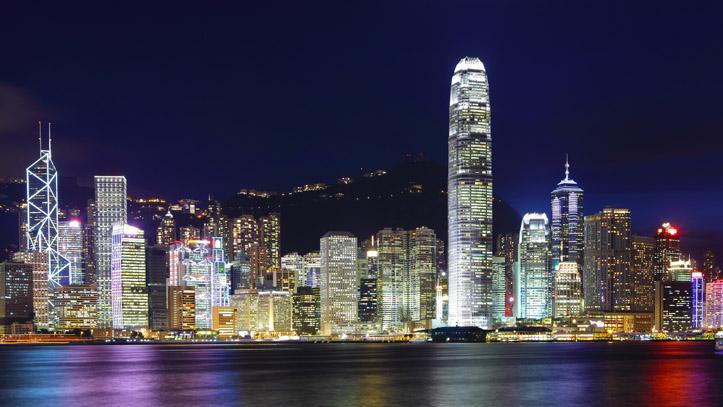 victoria bay nuit lumieres hk