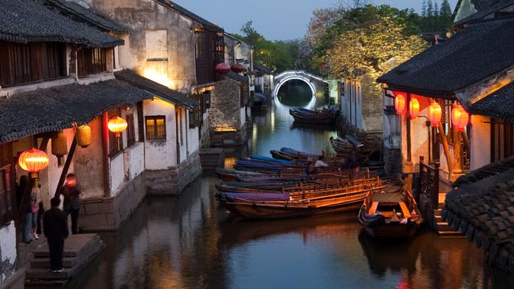 Village d'eau à Zhouzhuang en Chine
