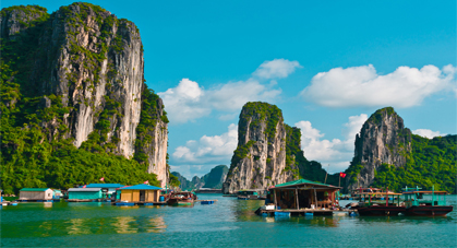 Village flottant Vietnam