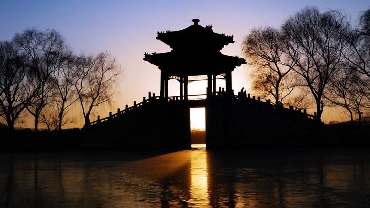 visite palais d'été coucher de soleil pekin chine