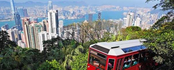 Vue sur Hong Kong du Pic Victoria